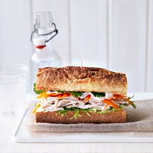 WeightWatchers.nl: Weight Watchers Recepten - Baguette met kip, koriander en limoen