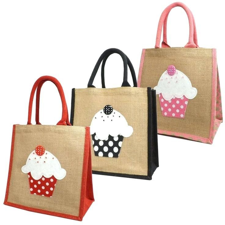 w-Details About Jute Hessian Medium Shopping Bag Cupcake Design Heavy Duty Canvas Tote Bags Wholesale Heavy Duty Canvas Bags Heavy Duty Canvas Duffel Bags