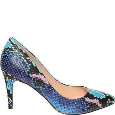Ozsale - CARVELA Kirsty Croc Pointed Toe Pumps Turquoise