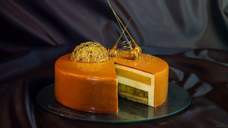 Торт Яблоки в карамели