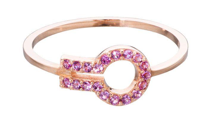 MAGIC WINDOW by Liza Belachew 18KPG and Pink Sapphire