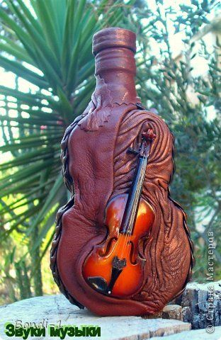 Декор предметов Моделирование конструирование Звуки музыки Бутылки стеклянные Кожа фото 1