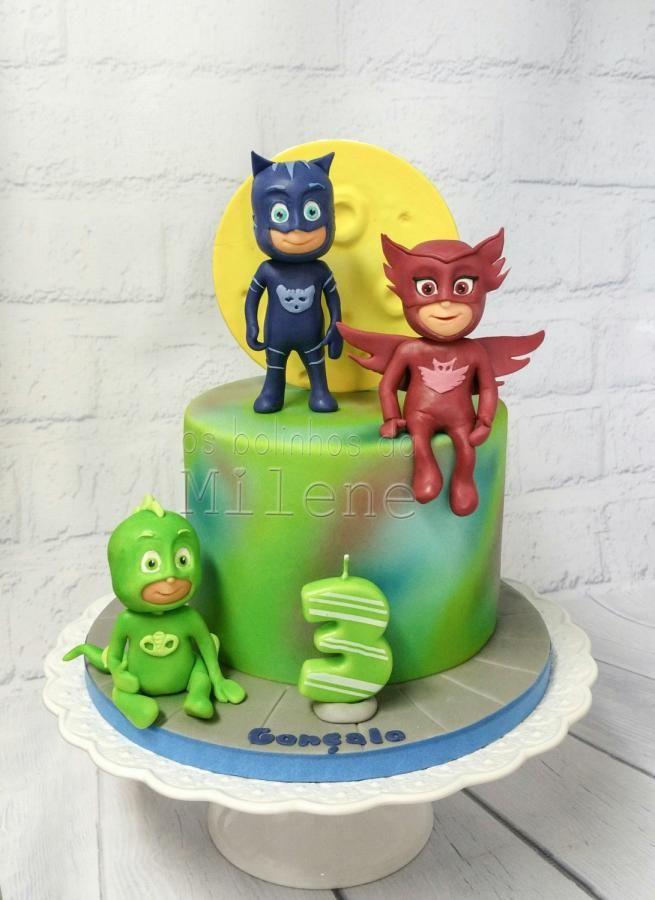 pj masks - cakemilene habib   pj masks birthday cake