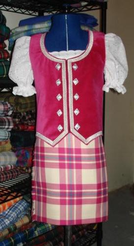 Kilt with raspberry vest (not on dancer) #macgregor #pink #tartan