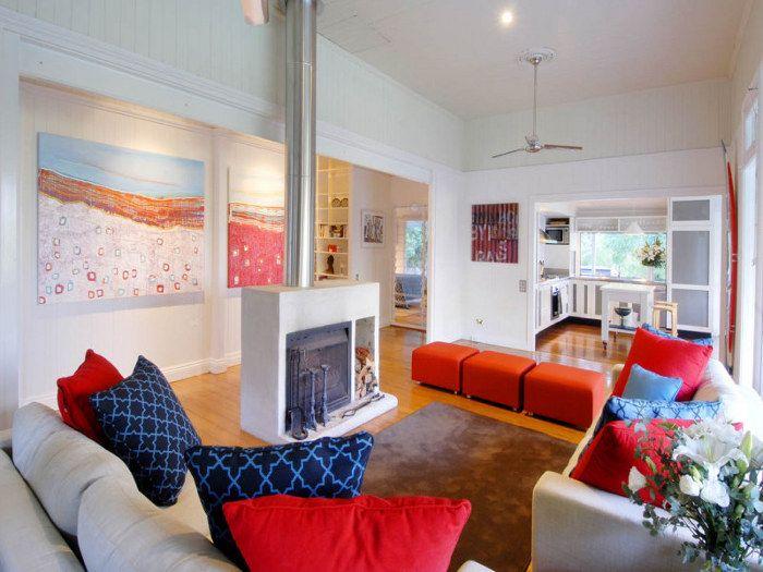 Red White Blue Living Room Part 93