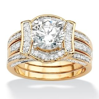 http://ak1.ostkcdn.com/images/products/7377929/7377929/Ultimate-CZ-14k-Gold-Overlay-2-3-8ct-TGW-CZ-Wedding-style-Ring-Set-P14837835.jpg