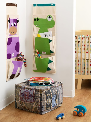 """""""Wall organizer""""   This hanging wall organizer is the perfect solution for clearing up all those small items that add up to one big mess. Easy to hang, the organizer has 3 generous pockets.    Ideal for diapers in the nursery, precious art projects or those tiny 'gotta find it now' toys, the 3 Sprouts hanging wall organizer helps you find a ..."""