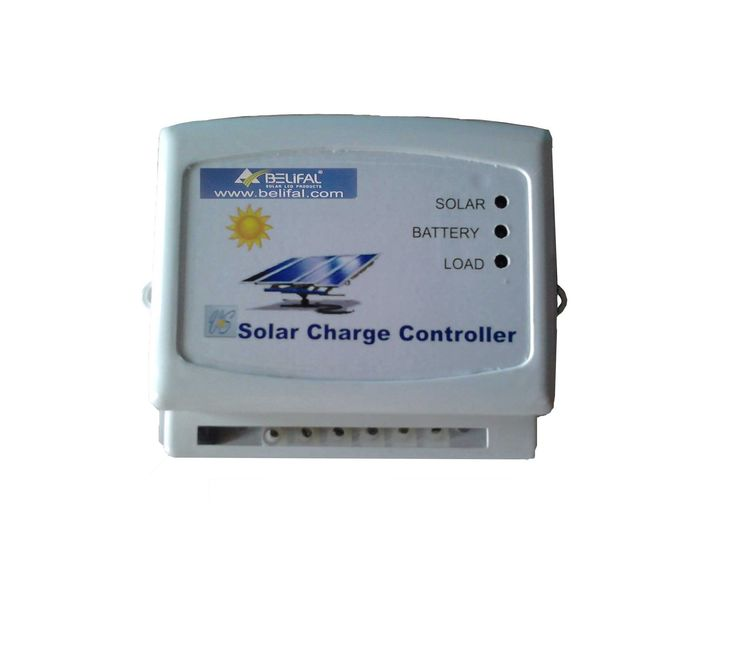 Belifal 12V/24V Auto 10A – Solar Charge Controller. Belifal solar charge controller uses PWM charging technology, so that as the battery reaches full charge, the PWM pulses slower, gradually tapering off the change. Pulsing is good for the batteries since it gently mixes the electrolyte, preventing stratification and sulphation. Low voltage disconnect protects the batteries from severe discharge by shutting off loads before the battery voltage drops to damaging levels.
