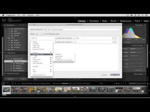 Quick Tip – Working with Smart Collections in Lightroom « Julieanne Kost's Blog
