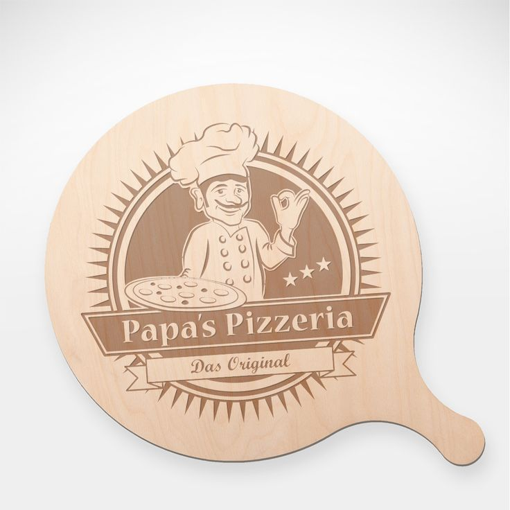 Pizza, sagt man, gehört zu den wenigen Dingen, die auch gut sind, wenn sie schlecht sind. Auf unserem Pizzabrett - Papas Pizzeria - mit Gravur wird allerdings jede Pizza noch ein Stück besser.