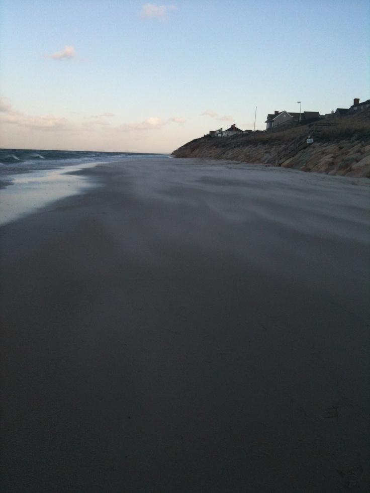 east dennis beach; e. dennis, ma (wind storm in january)