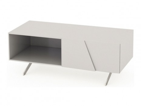 White and very modern TV cabinet