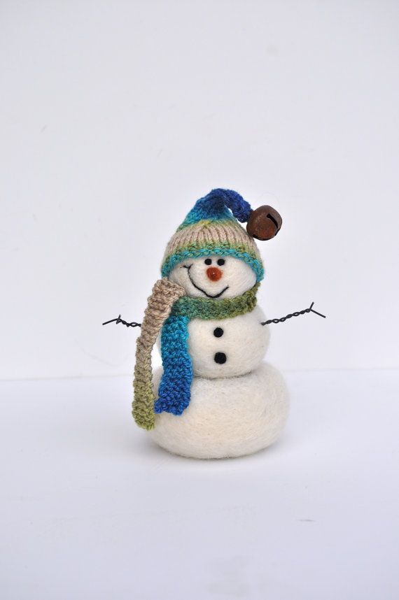 Snowman Needle Felted Snowmen 82 by BearCreekDesign on Etsy, $50.00: Christmas Time, Snowman Needle, Crafts Ideas, Snowmen 82, Felt Snowmen, Needle Felt