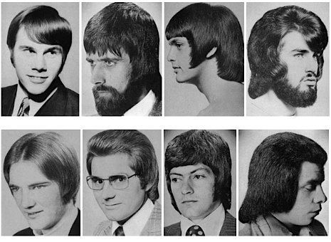 A Collection Of Men's Hairstyles From The 1970s