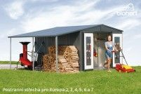 Biohort Postranní střecha pro EUROPA 6,7, tmavě zelená