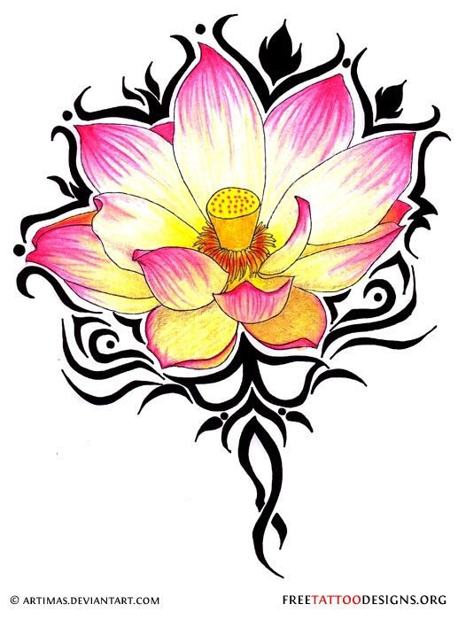 Lotus flower.. Love the colors. Add on to my sleeve