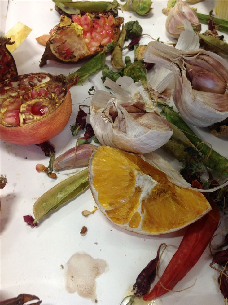 Decaying fruit and veg