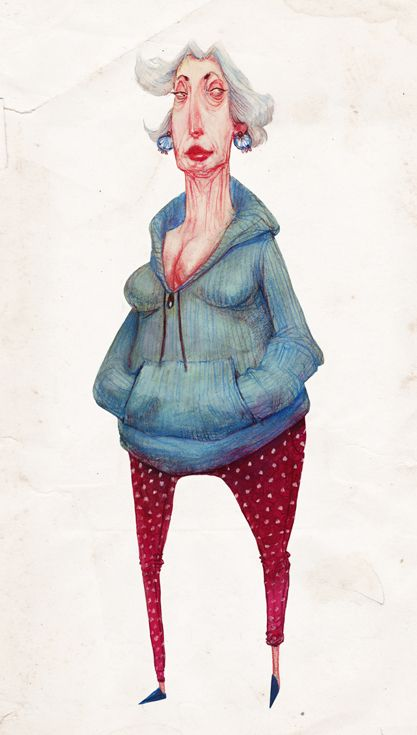 People by Audrey Benjaminsen, via Behance/ love this.  this is me all the way down to my small feet and my heart surgery scar.