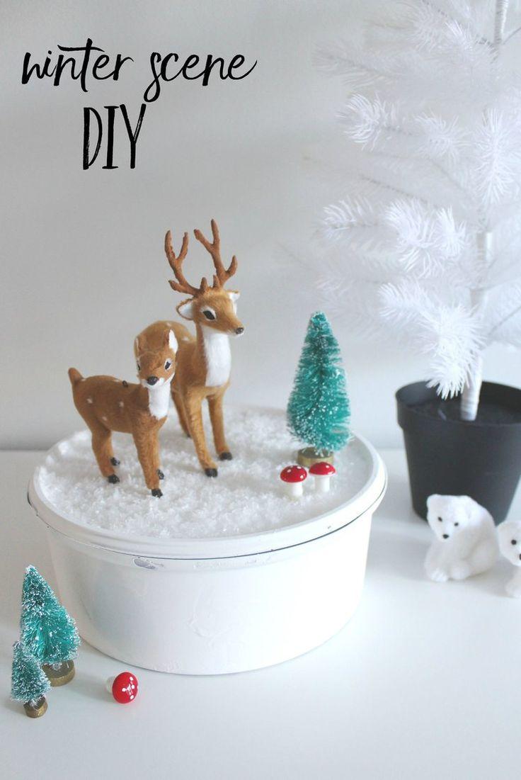 how to make a christmas scene diy