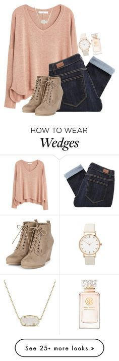 """""""Tag!"""" by ashley-watson19 on Polyvore featuring MANGO, Paige Denim, Kendra Scott, Tory Burch, women's clothing, women, female, woman, misses and juniors"""