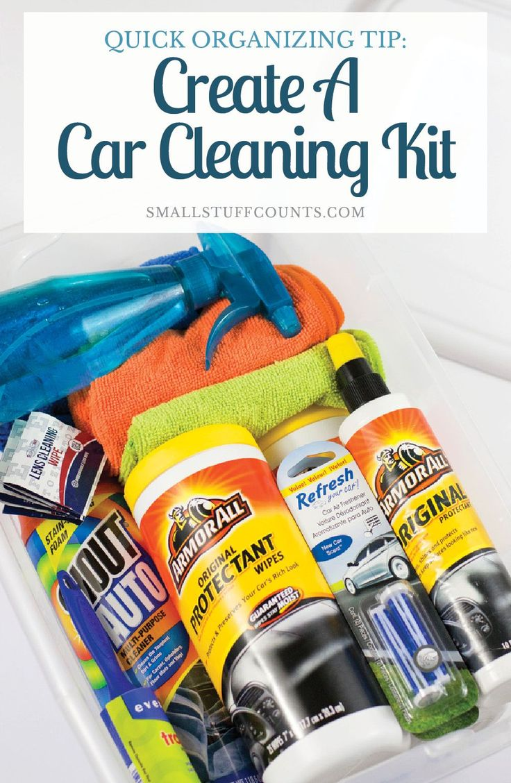 Quick organizing tip create a car cleaning kit