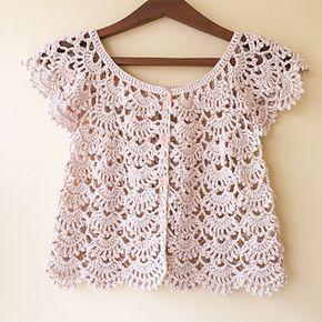 Ravelry: Picot Fan Summer Cardigan pattern by Lakshmi Ravi Narayan