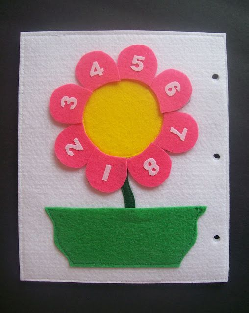 The petals velcro on and can be placed in the flower pot pocket.