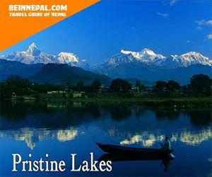 pristine lake - pokhara