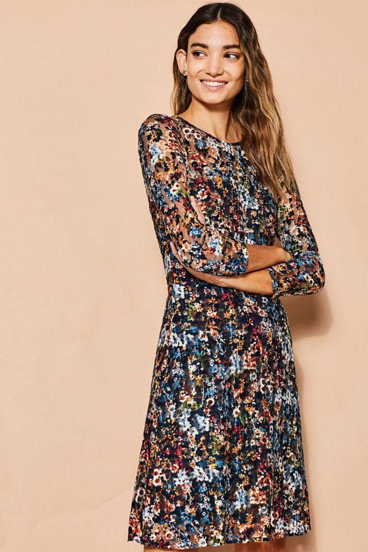 jurk met gebloemd kant