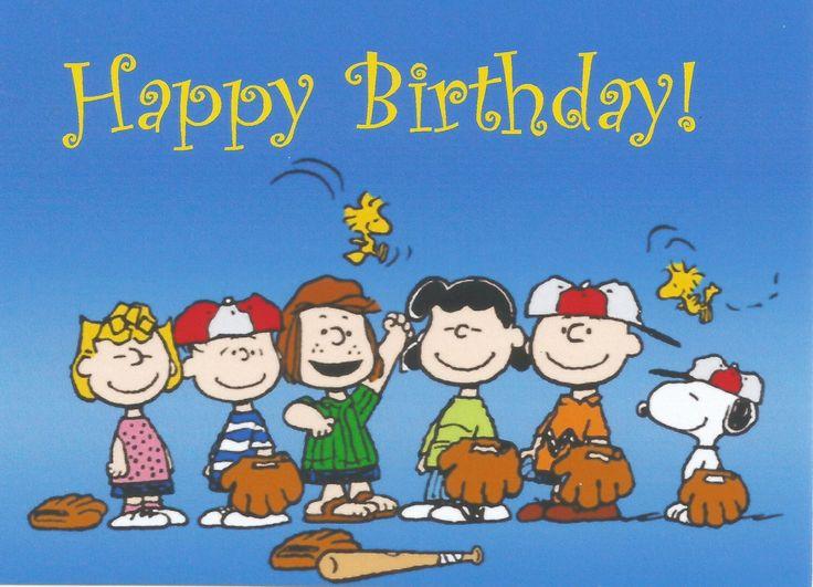 Charlie Brown, Peanuts Gang, Snoopy, Happy Birthday, Baseball, Refrigerator Magnet, NEW LARGER
