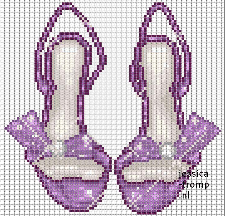 92 Free cross stitch designs shoes & slippers stitchingcharts borduren gratis borduurpatronen schoenen slippers kruissteekpatronen
