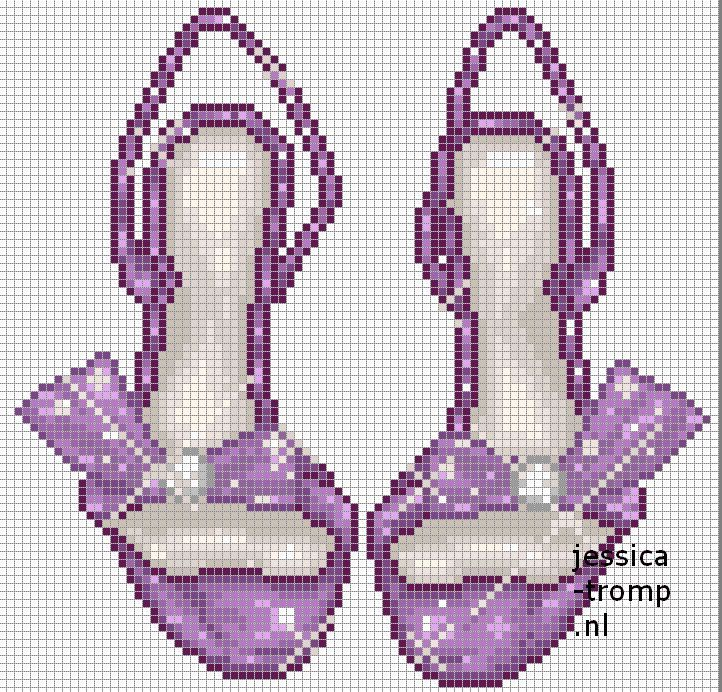 92 Free cross stitch designs shoes & slippers stitchingcharts borduren gratis borduurpatronen schoenen slippers kruissteekpatronen