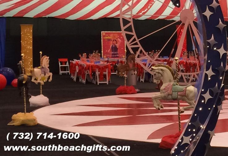 40 best carousel horse centerpieces table decorations hand for Amusement park decoration ideas
