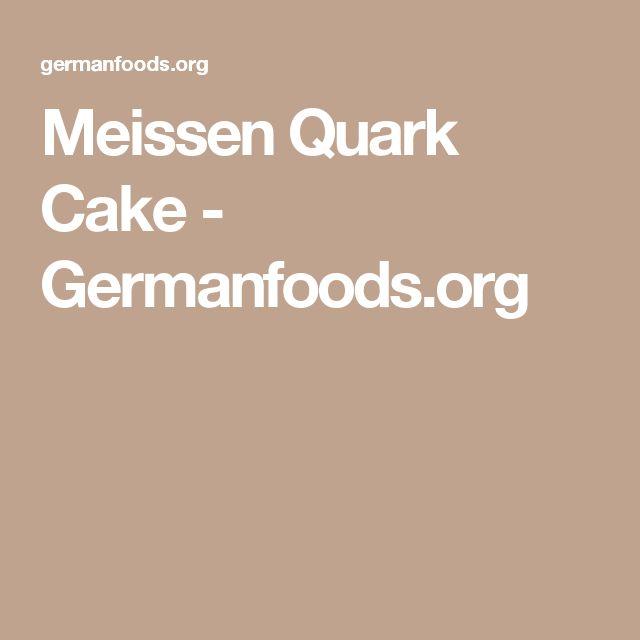 Meissen Quark Cake - Germanfoods.org