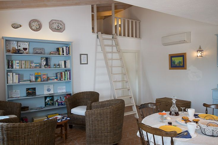 Stork House second bedroom is located in a loft and is ideal for children older than 5 years.