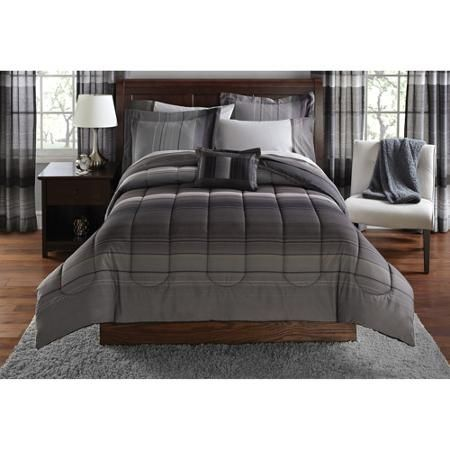 Walmart Mainstays Printed Ombre 8 Piece Bed In A Bag