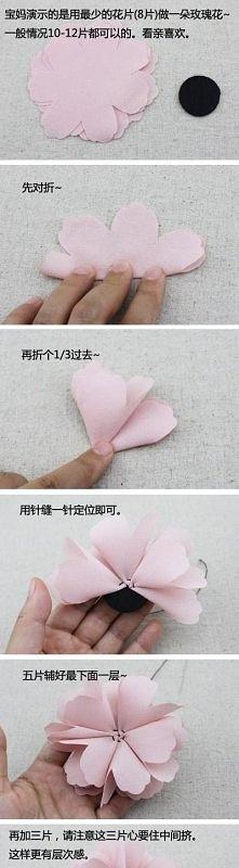 Kwiaty z materiału.. zdj