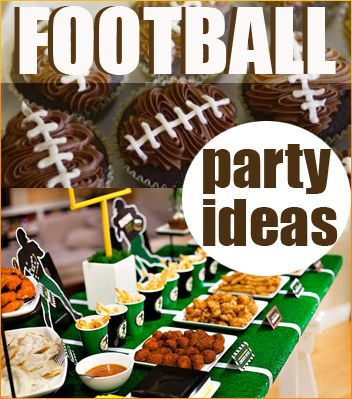 Football Season DIY Party Ideas.  Great ideas for a kids football birthday party, tailgate party or just getting together with friends.  Creative table displays, food and more.