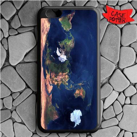 World Map iPhone 6 Plus iPhone 6S Plus Black Case