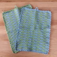 Ibber & Bubsen: Hæklede køkkenhåndklæder i bølgemønster - opskrift...