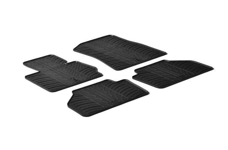 Gledring 2011-2016 BMW X3 Custom Fit All Weather Floor Mats - Protect your car floor carpet with these custom molded rubber floor mats. This 4 piece set will cover the floor area for the front and rear seats. The rubber material will hold the floor mats in place. These mats also have holes for the factory floor anchors for an even more secure fitting. There is no trimming needed. Just set them in place and secure the front floor mat anchors in place. These heavy duty mats are produced out of…