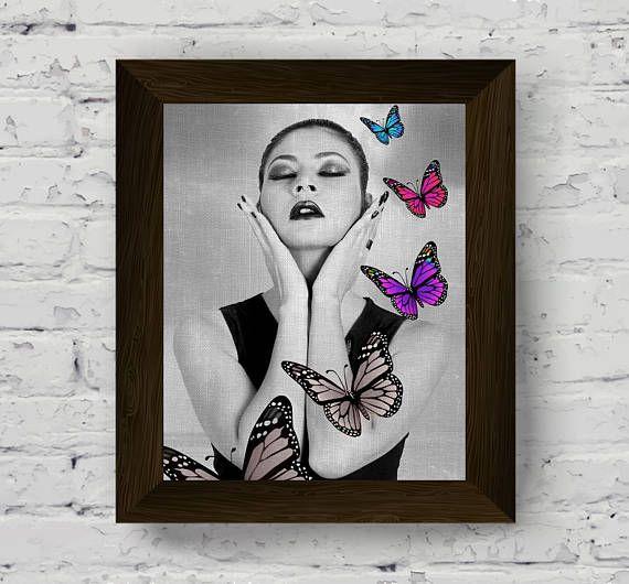 fashion print woman portrait black white prints sensual