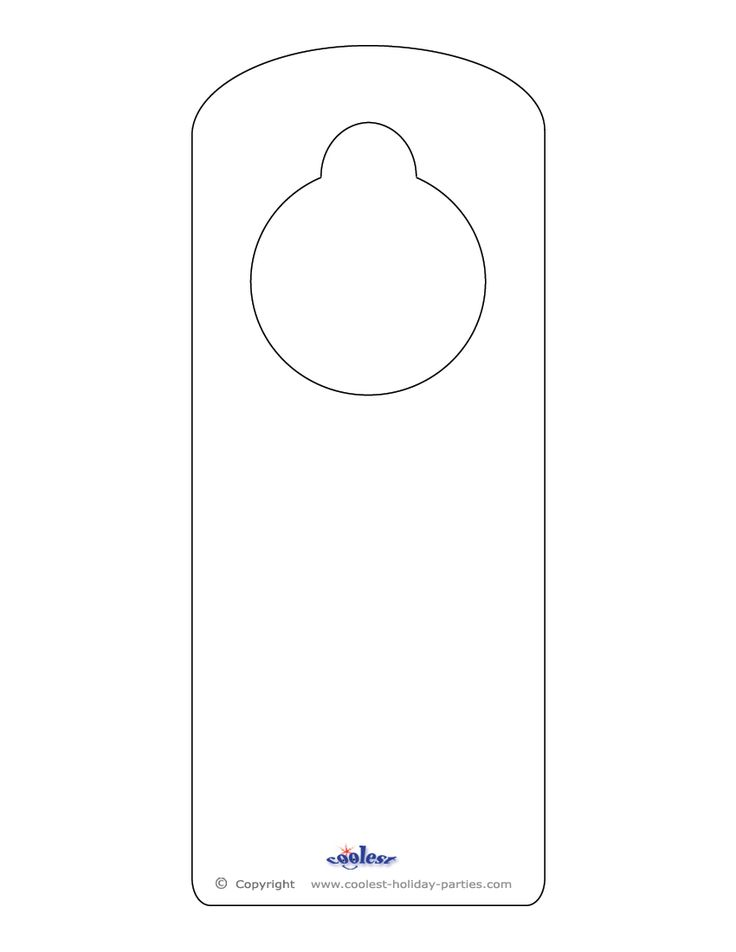 This printable doorknob hanger template can be decorated however you wish, with whatever text and/or design you choose. Either print on colorful paper...