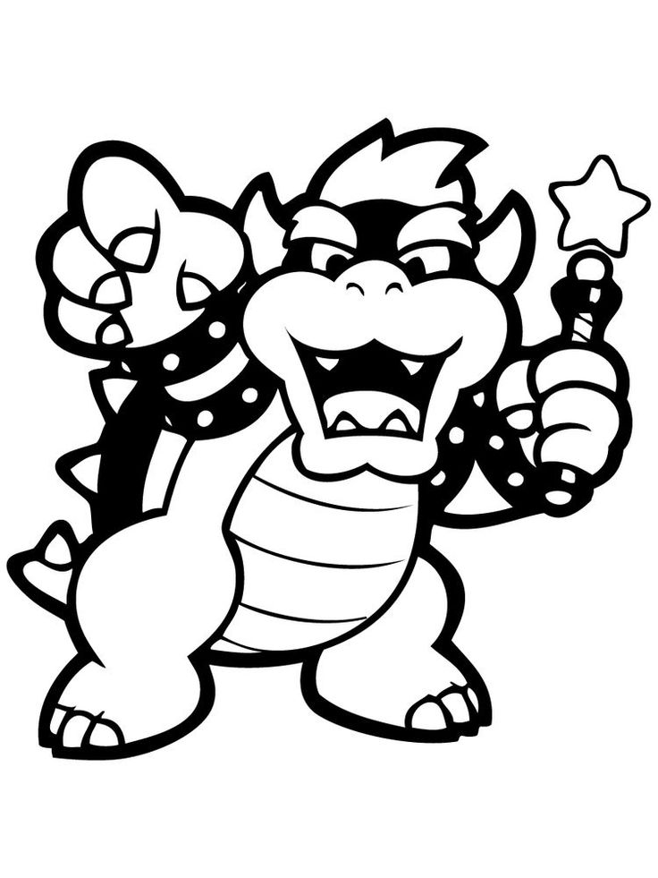 Baby Bowser Mario coloring pages, Cartoon coloring pages