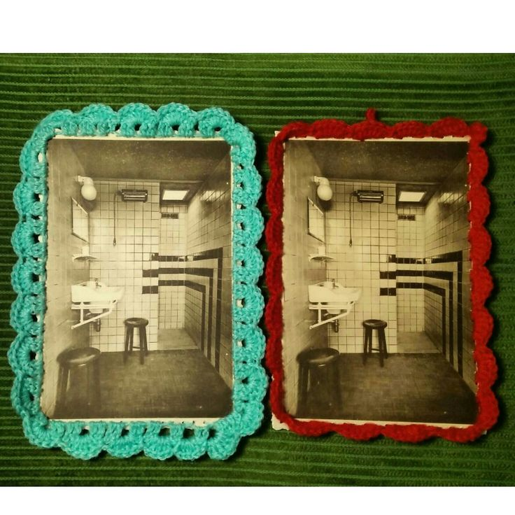 Old postcards,  new frames #recycling #recycledmaterial #postcard#frame #crochet #handmade #handmadeshop #waitingyourorders