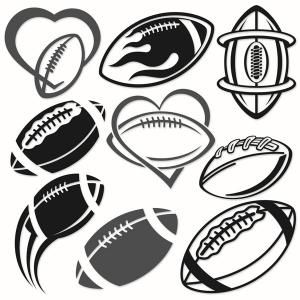 Football Decal Pack Cuttable Design Cut File. Vector, Clipart, Digital Scrapbooking Download, Available in JPEG, PDF, EPS, DXF and SVG. Works with Cricut, Design Space, Sure Cuts A Lot, Make the Cut!, Inkscape, CorelDraw, Adobe Illustrator, Silhouette Cameo, Brother ScanNCut and other compatible software.