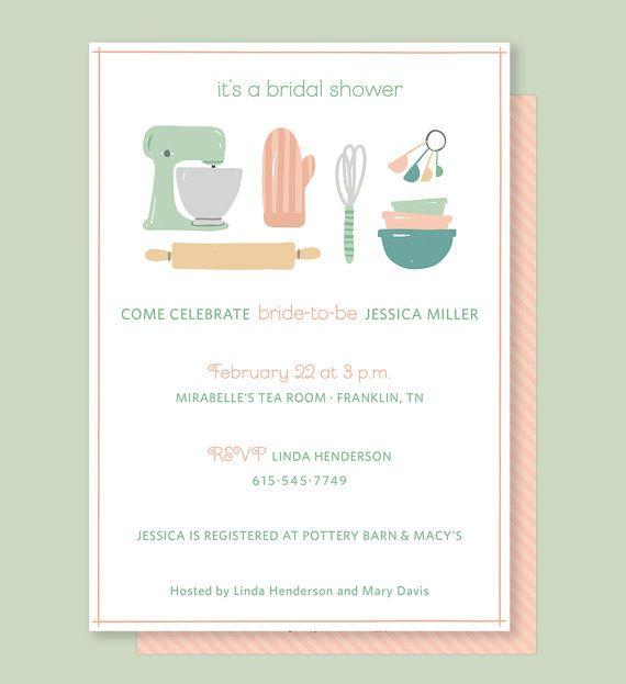 Kitchen Bridal Shower Invitation with Vintage door LeveretPaperie