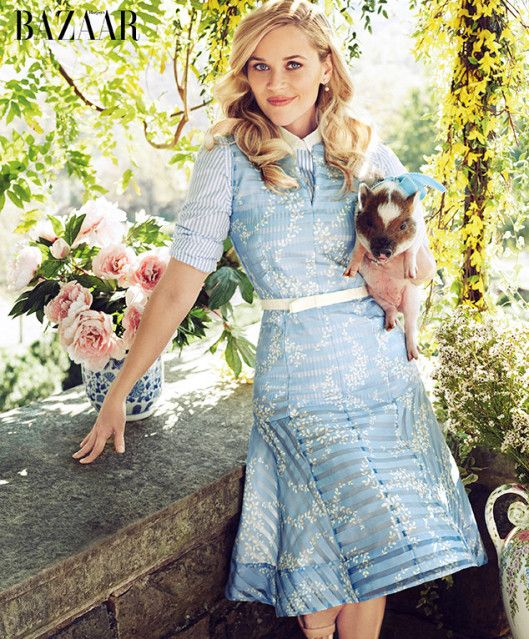 Reese Witherspoon Harpers Bazaar charme sulista