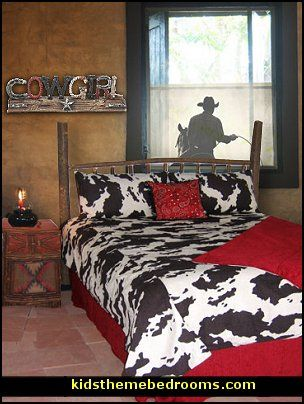 Charmant Girls Rustic Western Themed Bedroom | Cowboy Theme Bedrooms   Rustic Western  Style Decorating Ideas   Rustic ... | Grace | Western Bedroom Decor, Cowboy  ...