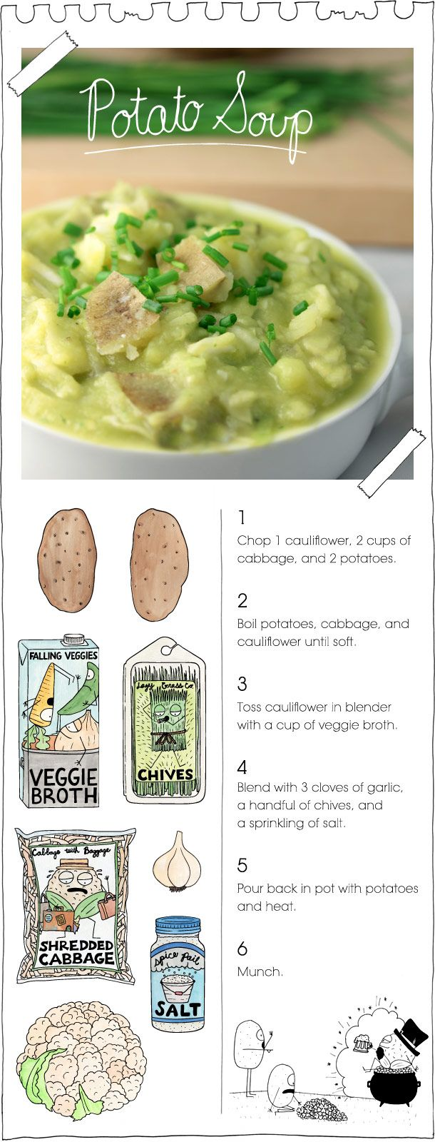 And today in Vegan Recipes That Are So Easy They Should Be Fined, Potato (and cauliflower) Soup!